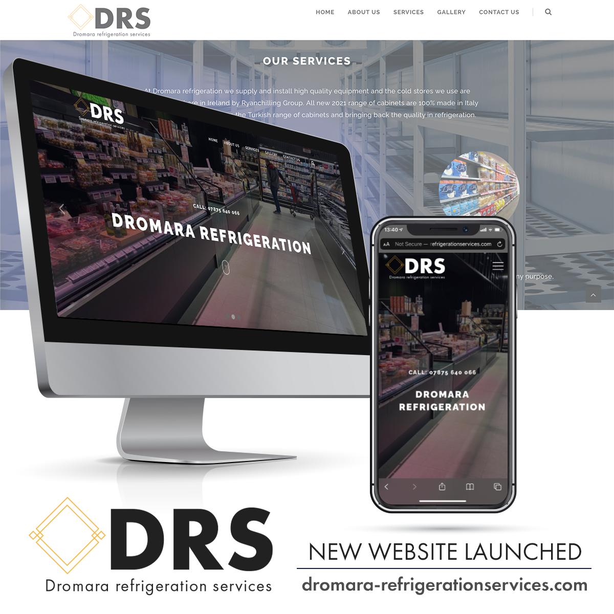 NI Designer web design DRS dromara-refrigerationservices.com
