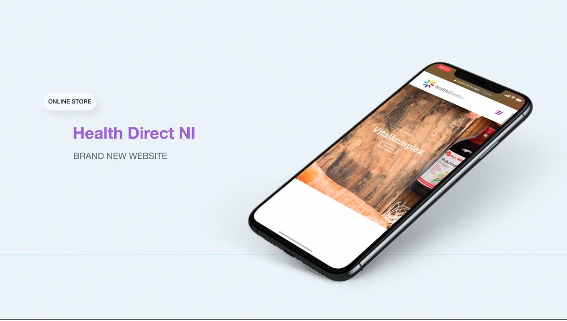 NI Designer web design healthdirectni.com