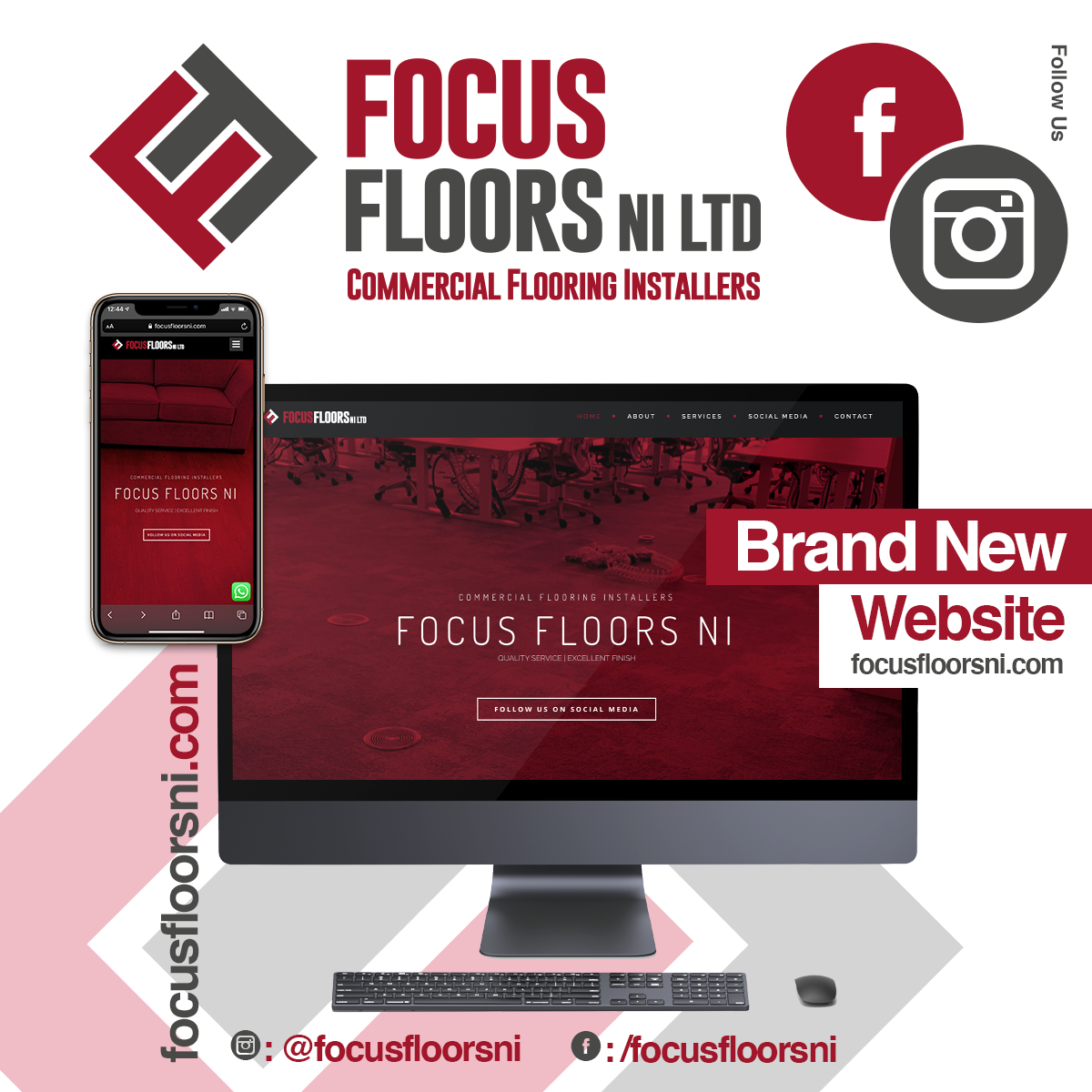 NI Designer web design Focus Floors NI